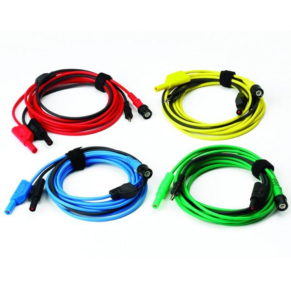 Kit 4 cavi premium (da BNC a 4mm) m.3 (blu, rosso, verde e giallo)